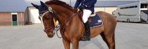 Leden succesvol met hun paarden